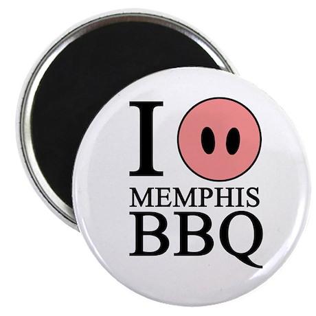 """I Love Memphis BBQ 2.25"""" Magnet (100 pack)"""