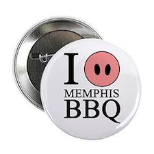 "I Love Memphis BBQ 2.25"" Button (100 pack)"