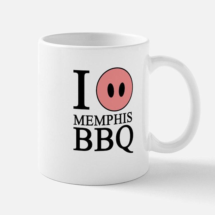 I Love Memphis BBQ Mug