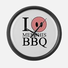 I Love Memphis BBQ Large Wall Clock