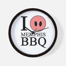 I Love Memphis BBQ Wall Clock