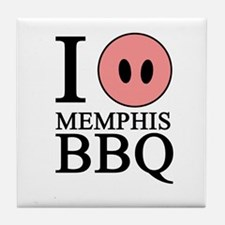 I Love Memphis BBQ Tile Coaster