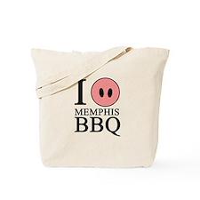 I Love Memphis BBQ Tote Bag