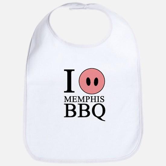 I Love Memphis BBQ Bib