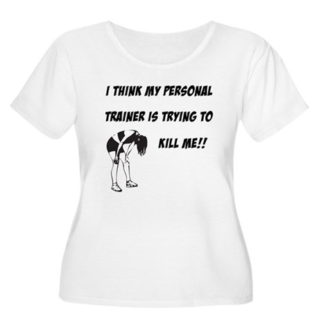 Trainer trying to kill me Women's Plus Size Scoop