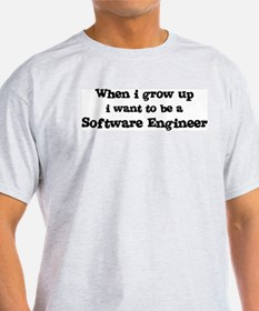 Be A Software Engineer Ash Grey T-Shirt