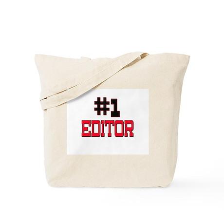 Number 1 EDITOR Tote Bag