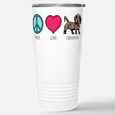 Cute Peace%2c love%2c dogs Travel Mug