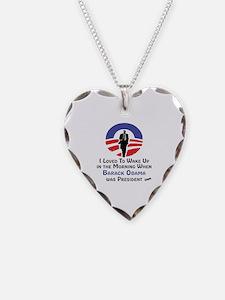 Funny Barack Necklace Heart Charm