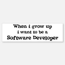Be A Software Developer Bumper Bumper Bumper Sticker