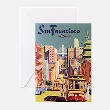Vintage Travel Poster San Francisco Greeting Cards