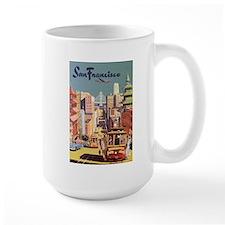 Vintage Travel Poster San Francisco Mug