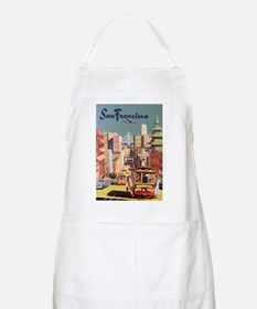 Vintage Travel Poster San Francisco Apron
