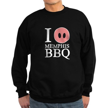 I Love Memphis BBQ Sweatshirt (dark)