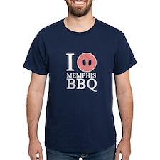 I Love Memphis BBQ T-Shirt