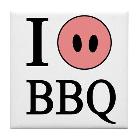 I Love BBQ Tile Coaster