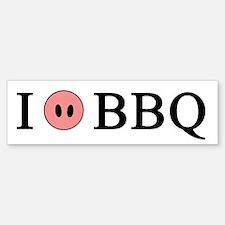 I Love BBQ Bumper Bumper Bumper Sticker