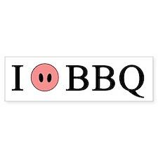 I Love BBQ Bumper Bumper Sticker
