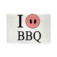 I Love BBQ Rectangle Magnet