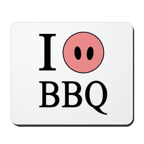 I Love BBQ Mousepad