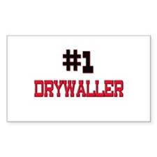 Number 1 DRYWALLER Rectangle Decal