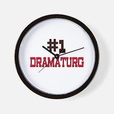 Number 1 DRAMATURG Wall Clock