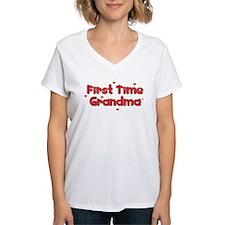 Heart 1st Time Grandma Shirt