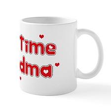 Heart 1st Time Grandma Mug