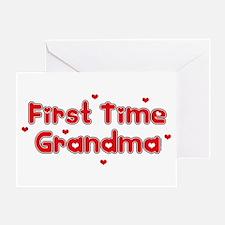 Heart 1st Time Grandma Greeting Card