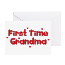 Heart 1st Time Grandma Greeting Cards (Pk of 10)