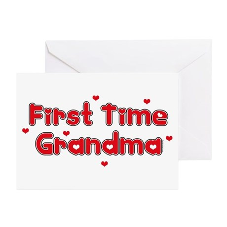 Heart 1st Time Grandma Greeting Cards (Pk of 20)