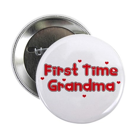 "Heart 1st Time Grandma 2.25"" Button"