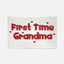 Heart 1st Time Grandma Rectangle Magnet