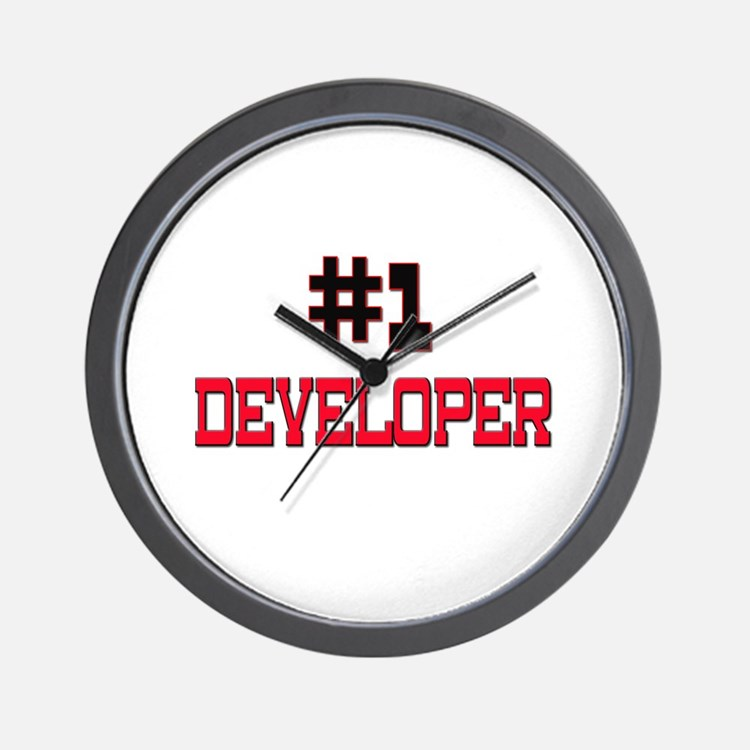 Number 1 DEVELOPER Wall Clock