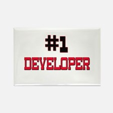 Number 1 DEVELOPER Rectangle Magnet