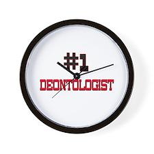 Number 1 DEONTOLOGIST Wall Clock
