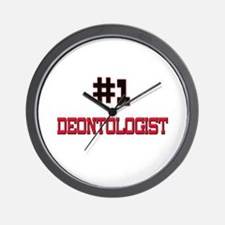 Number 1 DEONTOLOGIST Wall Clock