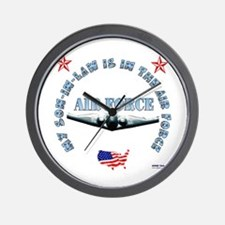 Air Force Son-in-Law Wall Clock