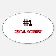 Number 1 DENTAL HYGIENIST Oval Decal