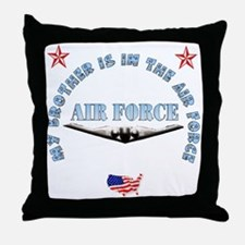 Air Force Brother Throw Pillow