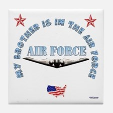 Air Force Brother Tile Coaster