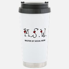 MSW Hearts (Design 2) Stainless Steel Travel Mug