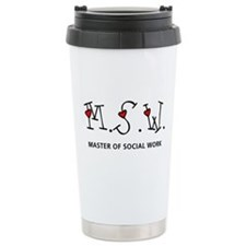 MSW Hearts (Design 2) Travel Coffee Mug