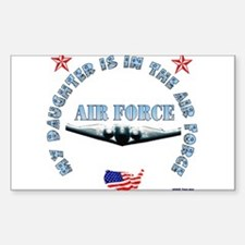 Air Force Daughter Rectangle Decal