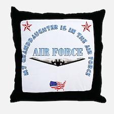 Air Force Granddaughter Throw Pillow