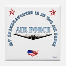 Air Force Granddaughter Tile Coaster