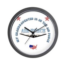 Air Force Granddaughter Wall Clock