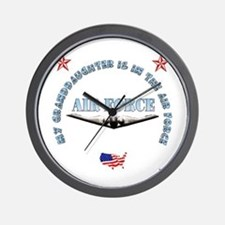 Air Force Granddaughter Wall Clock