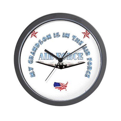 Air Force Grandson Wall Clock