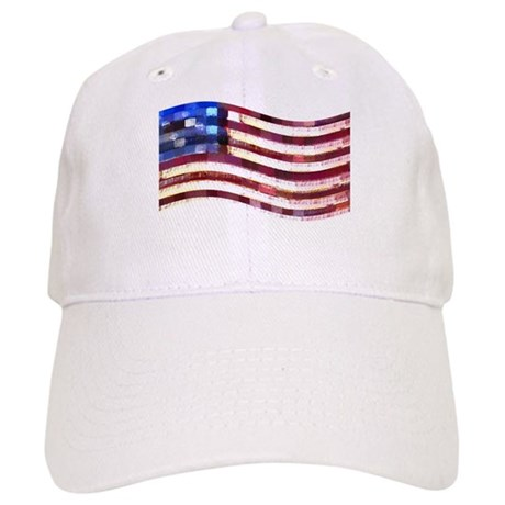 USA Flag quilted: Cap
